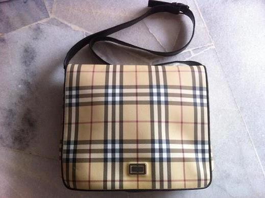 acbf80662b Truly Vintage  Burberry Nova Check Unisex Messenger Bag