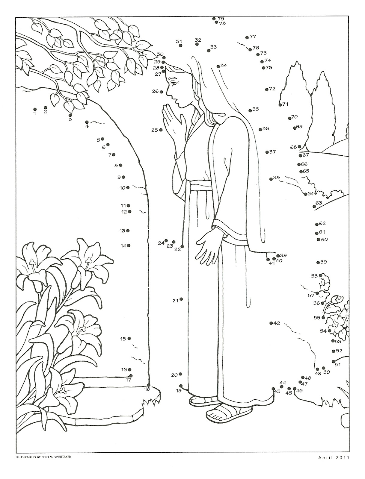Hola mormon primaria 2015 new style for 2016 2017 for Lds easter coloring pages