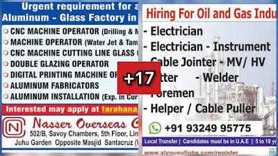 Gulf Overseas Jobs~30 July