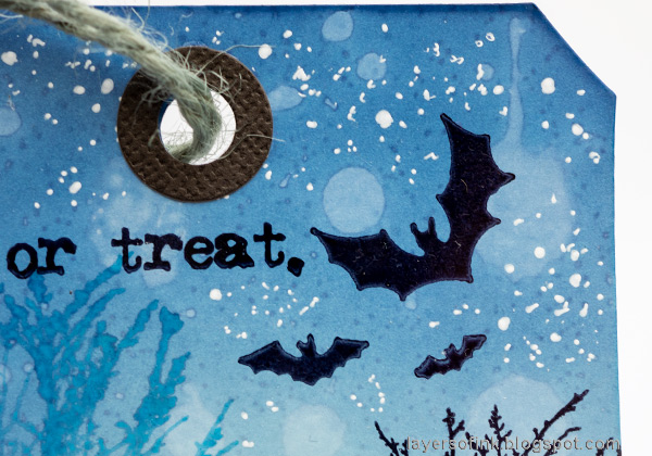 Layers of ink - Halloween Silhouettes on glossy cardstock by Anna-Karin Evaldsson.