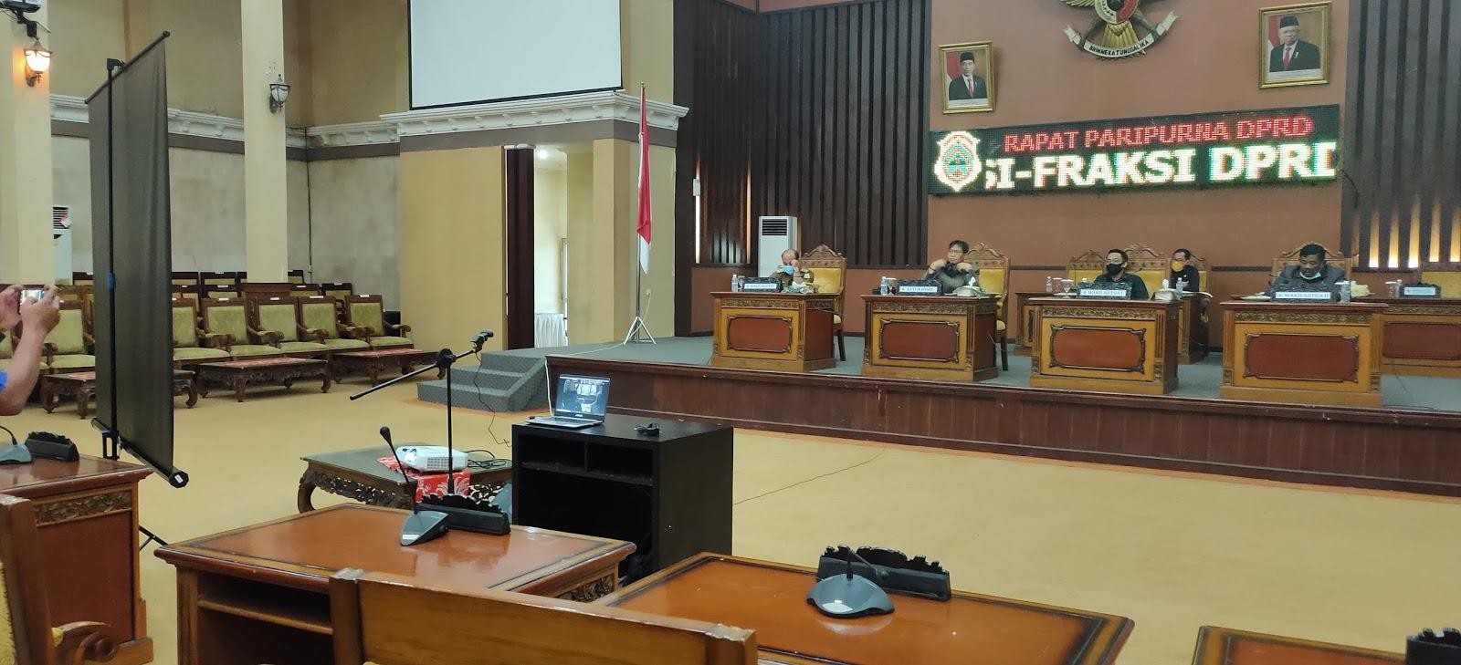 DPRD Tanjabtim Gelar Paripurna Pandangan Umum Fraksi Terhadap LKPJ Bupati TA 2019