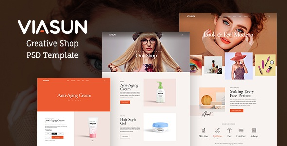 Best Creative Cosmetic Store PSD Template