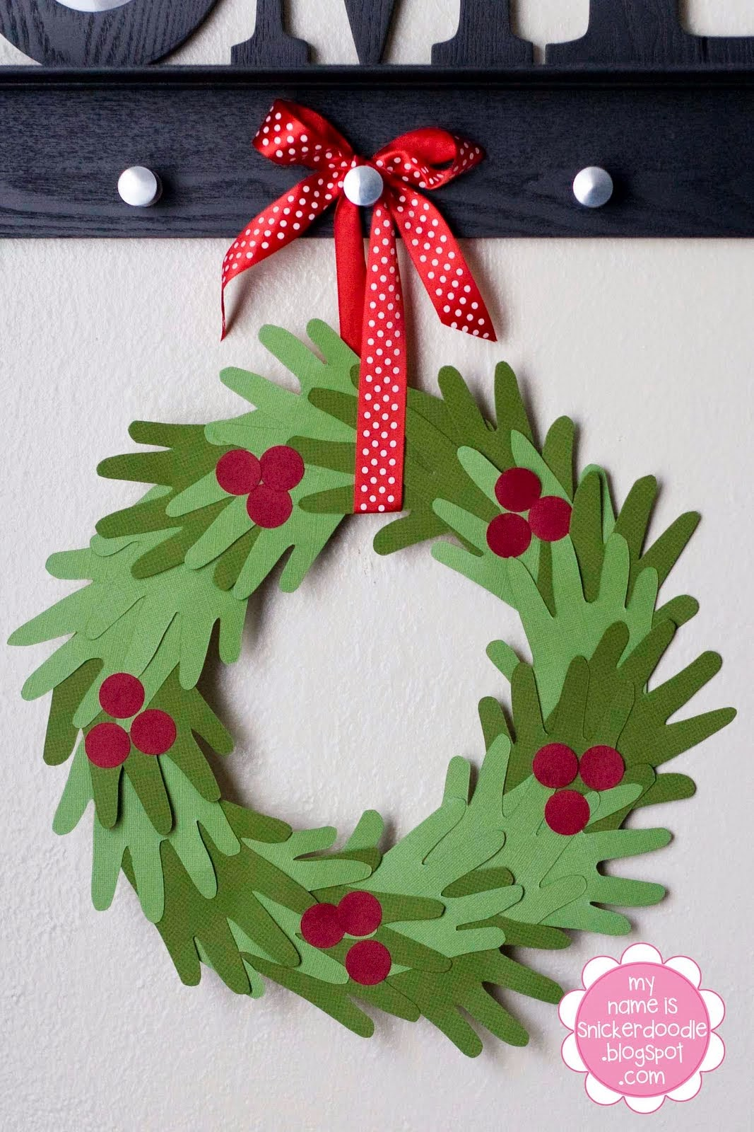 Christmas Pictures To Print.Kids Hand Print Christmas Wreath Tutorial My Name Is