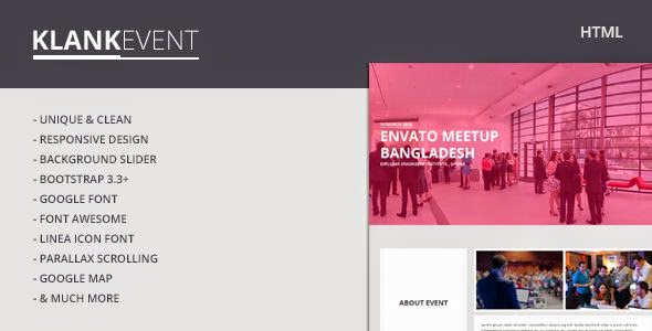 Best Event Landing Page HTML Template