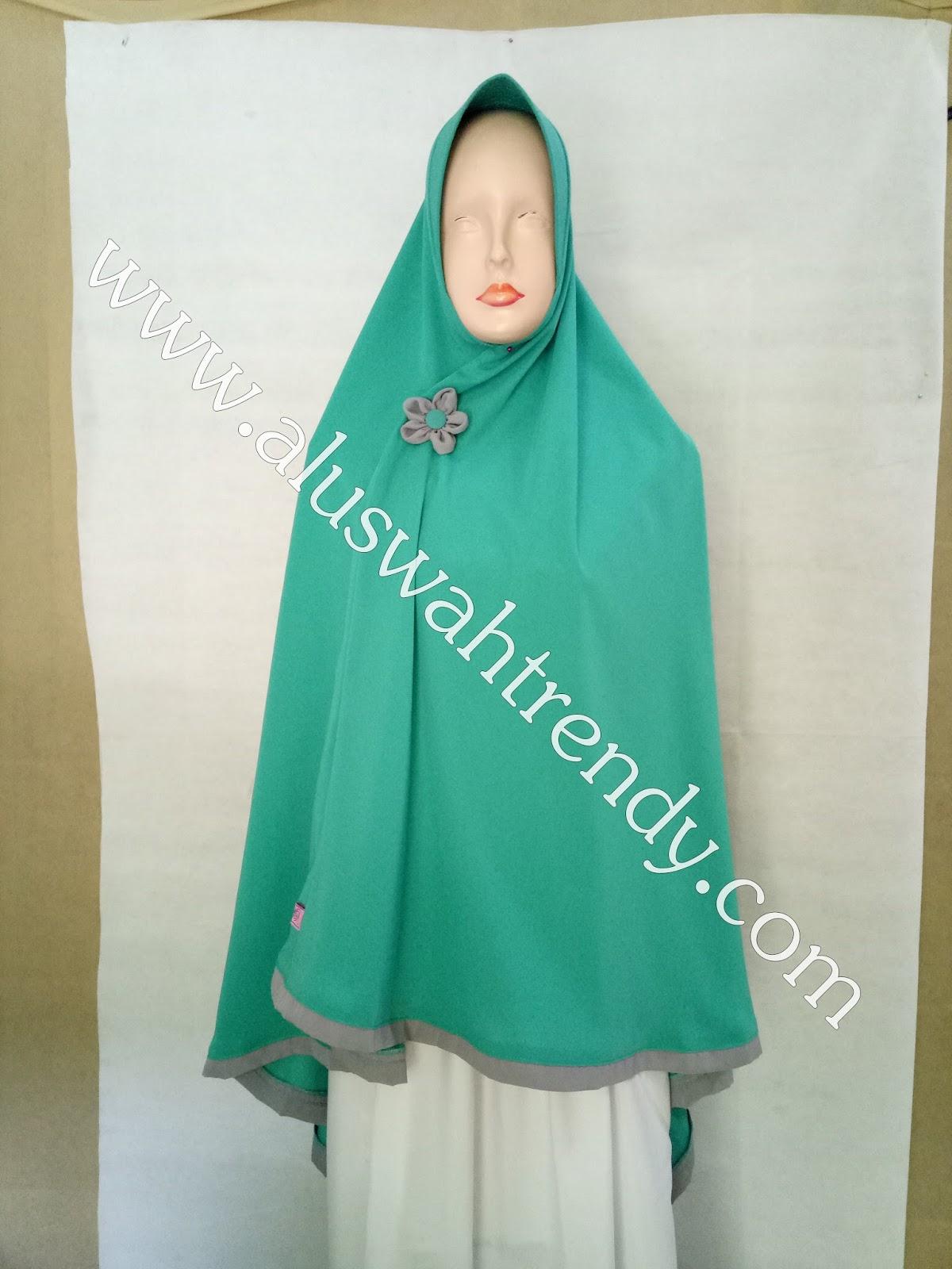 Jilbab Khimar Instan Warna Hijau Tosca 29