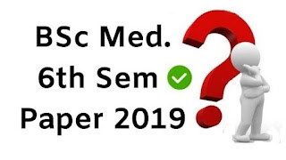 Mdu Bsc Medical 6th Sem Question Papers 2019