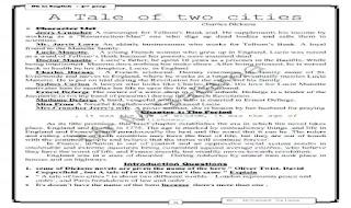 ترجمة قصة A tale of two cities او حكاية مدينتين كاملة واسئلة واجابات عليها