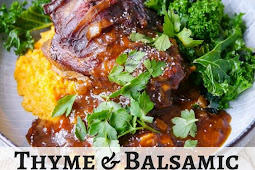 Thyme and Balsamic Slow Cooker Lamb Shanks