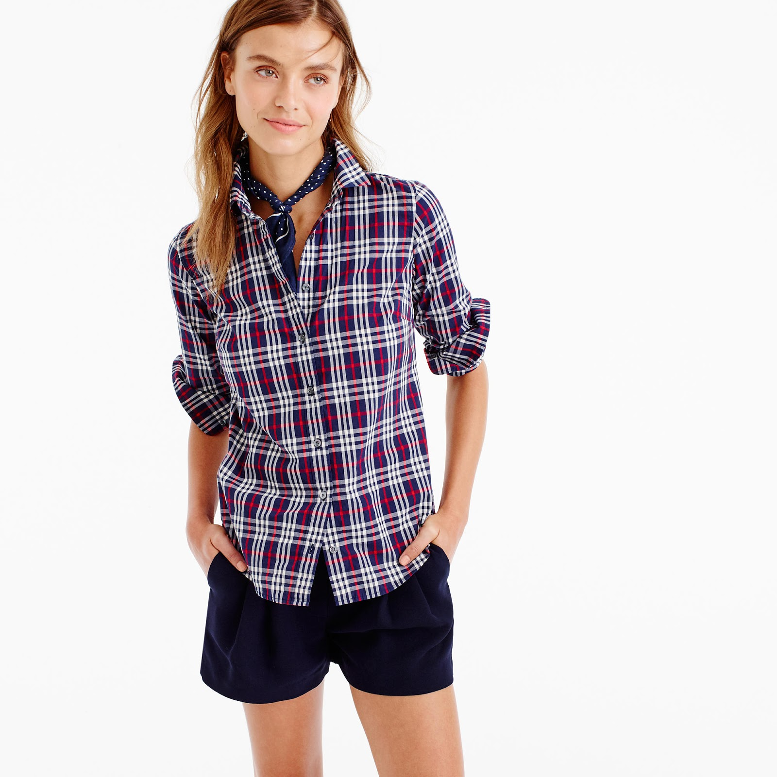 J.Crew's perfect shirt in plaid PLUS lots of other great arrivals from the brand
