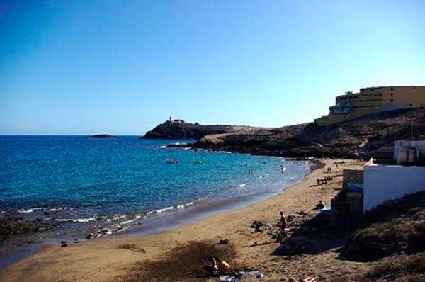 Playa del Cabrón, Arinaga, Agüimes, Gran Canaria, donde fue recuperado el cuerpo sin vida de un hombre de unos 50 años