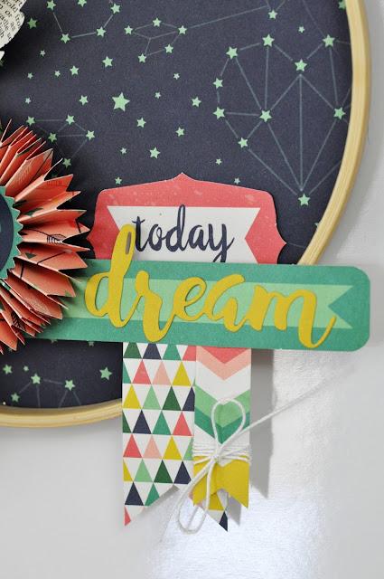 Just Be You Dream Catcher by www.jengallacher.com. #dreamcatcher #papercraft #echoparkpaper