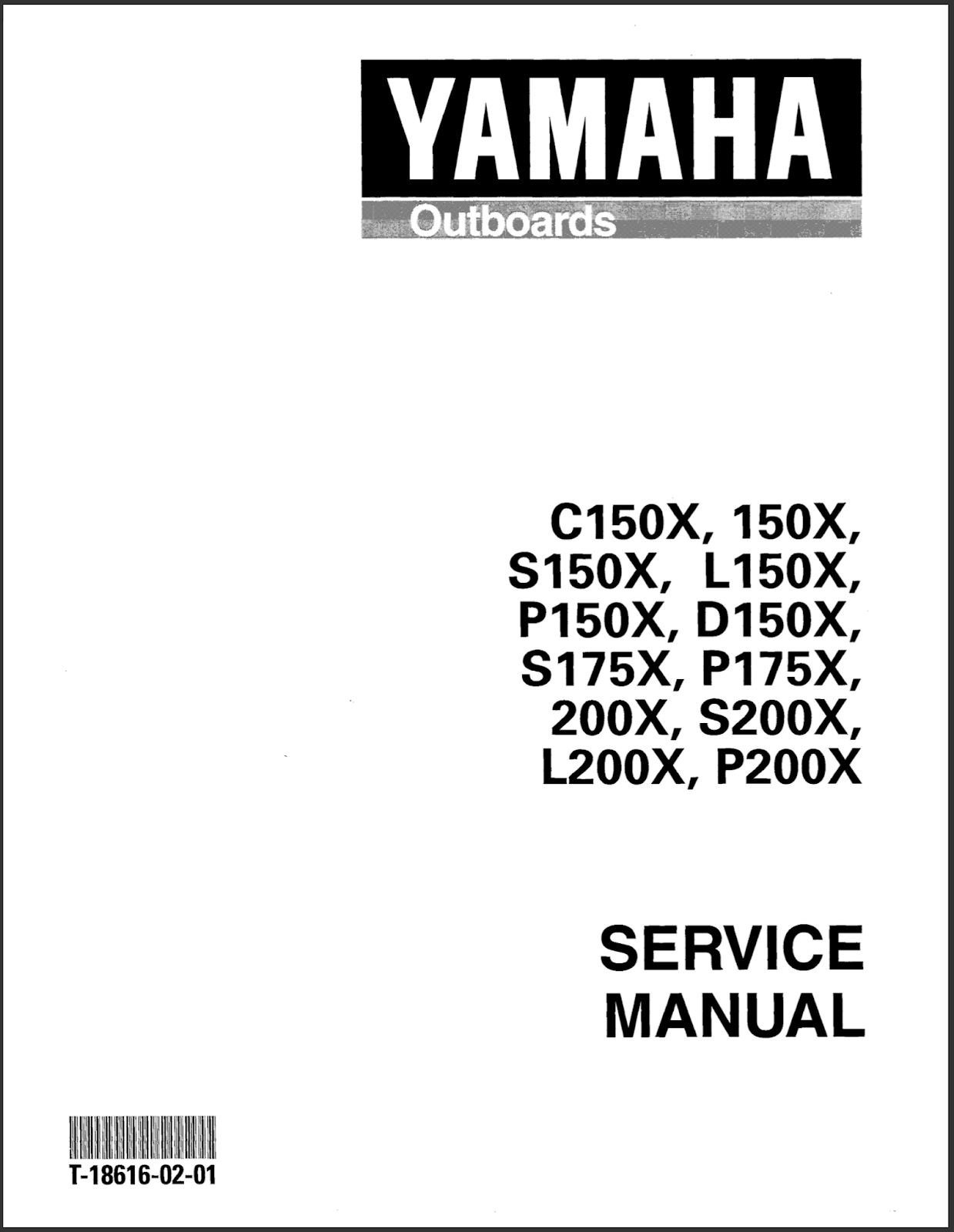 Yamaha Outboard Service Manual: DOWNLOAD Yamaha 175TXRY