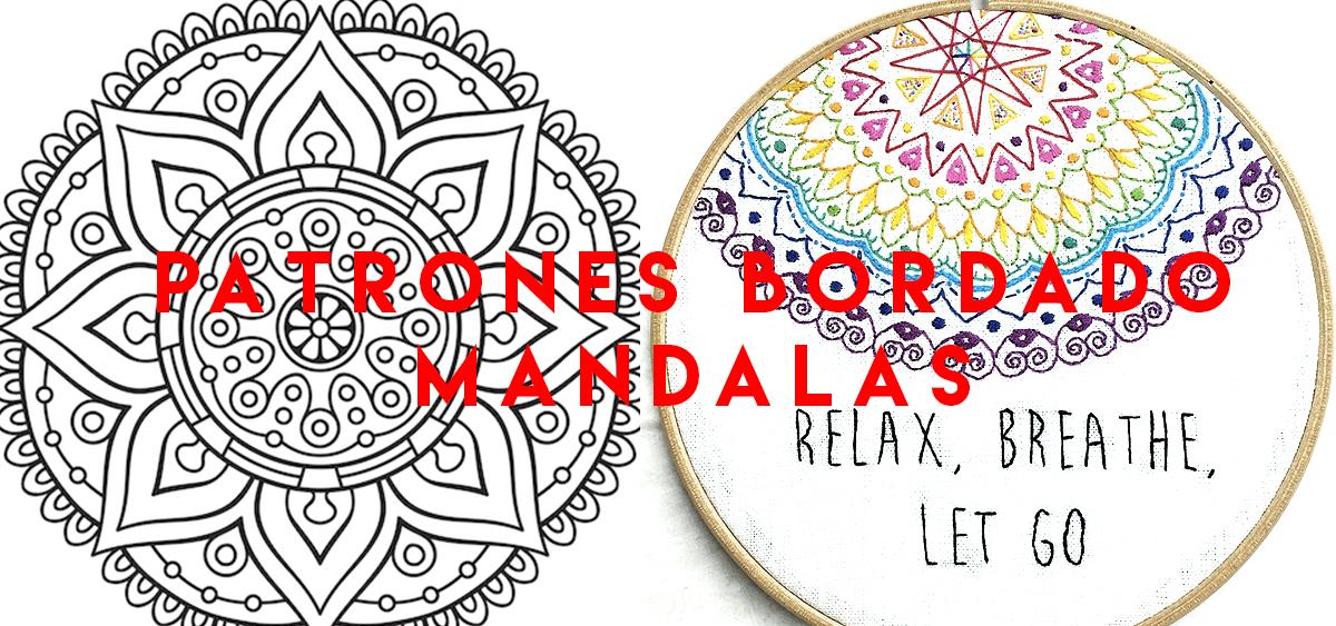PATRONES BORDADOS MANDALAS FÁCILES - MOMOVIPRO 💙