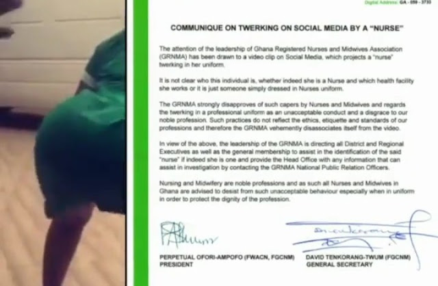 Ghanaian Nurse Who Twerked In Her Uniform Declared Wanted By Nurses Association