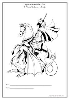 """Sequência de atividades - Mito """"São Jorge e o Dragão"""""""