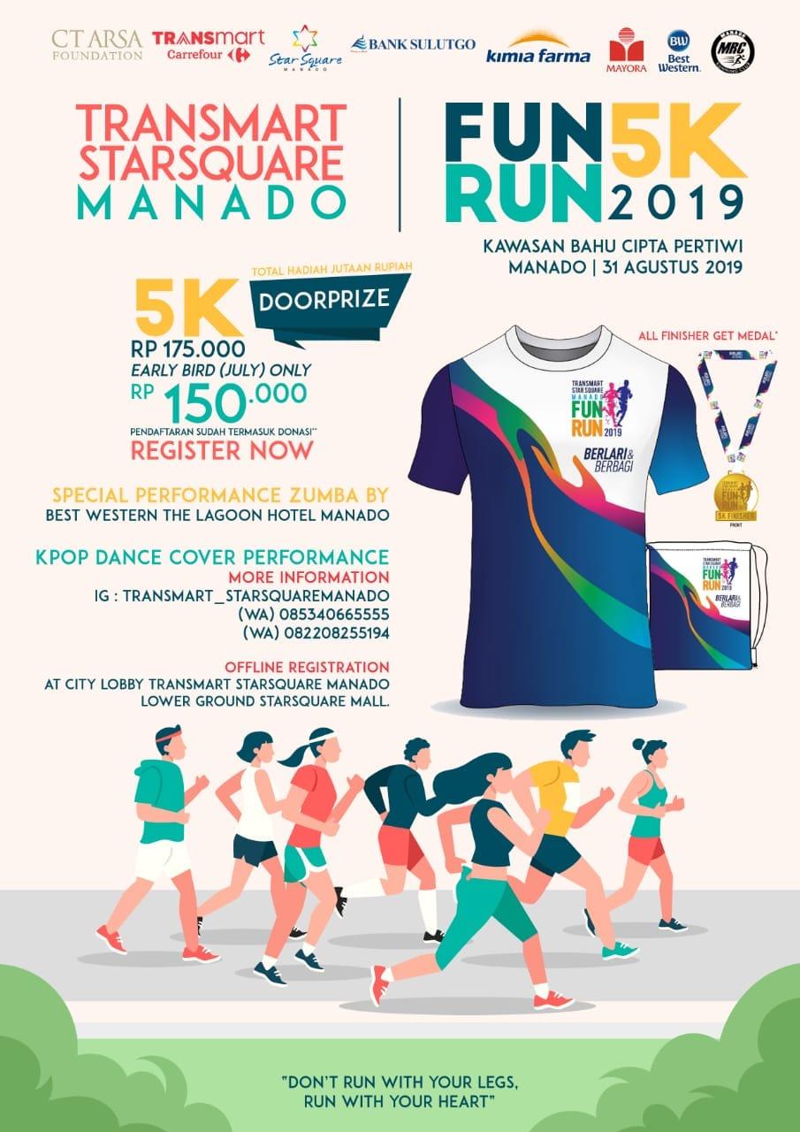 Transmart Star Square Manado - Fun Run • 2019