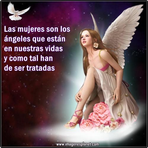 Imágenes de ángeles con frases de reflexion