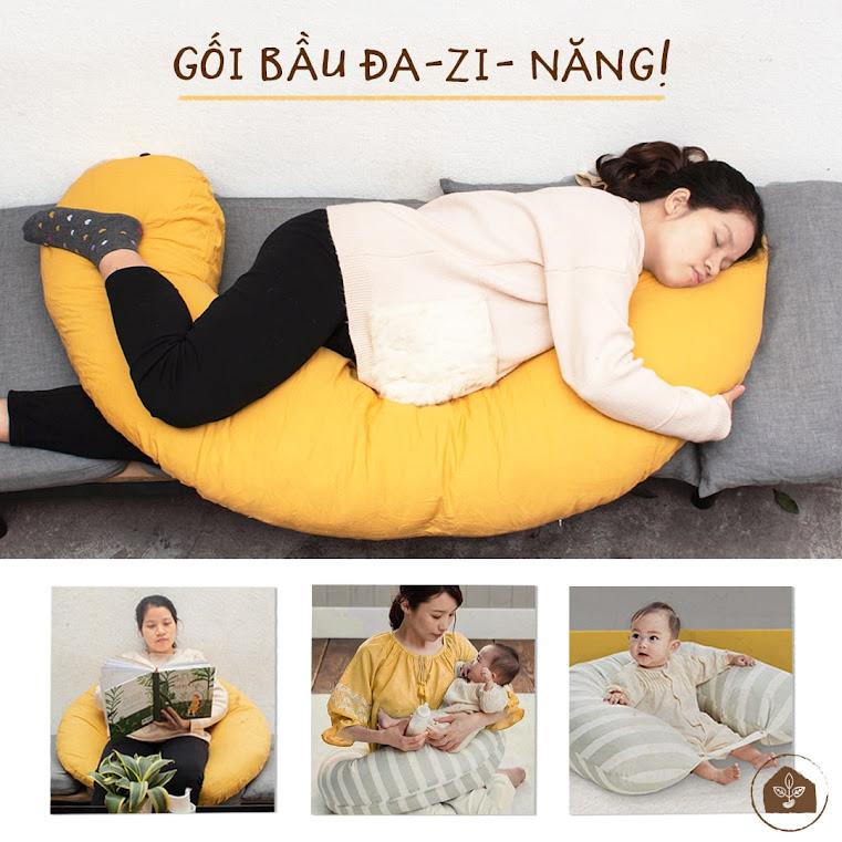 [A159] Gối cho bà bầu - Gối kê lưng cho mẹ và bé  ngủ ngon