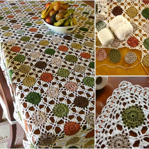 Autumn Dots Tablecloth - Free Pattern