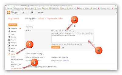 Hướng dẫn thêm thẻ Meta Description và Meta Keywords