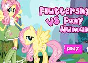 Fluttershy Vs Pony Human juego