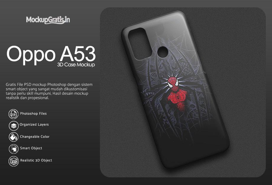 Mockup Custom Case 3D Oppo A53