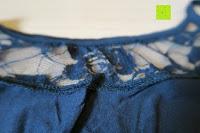 Muster: ZANZEA Damen Spitze Lingerie Babydolls Pyjama Dessous Set mit G-String Nachthemd Kleid
