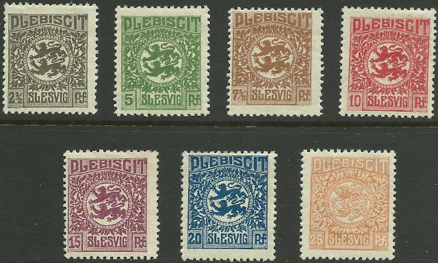 Germany Slesvig L Zone Plebiscit coat of Arm Set