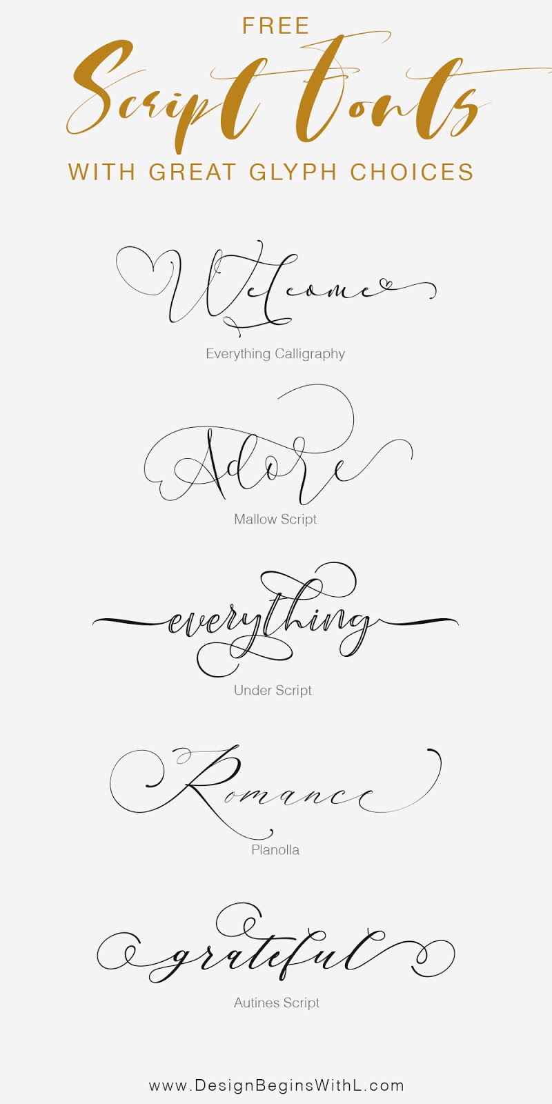 Free Script Fonts with Great Glyph Choices