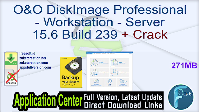 O&O DiskImage Professional – Workstation – Server 15.6 Build 239 + Crack