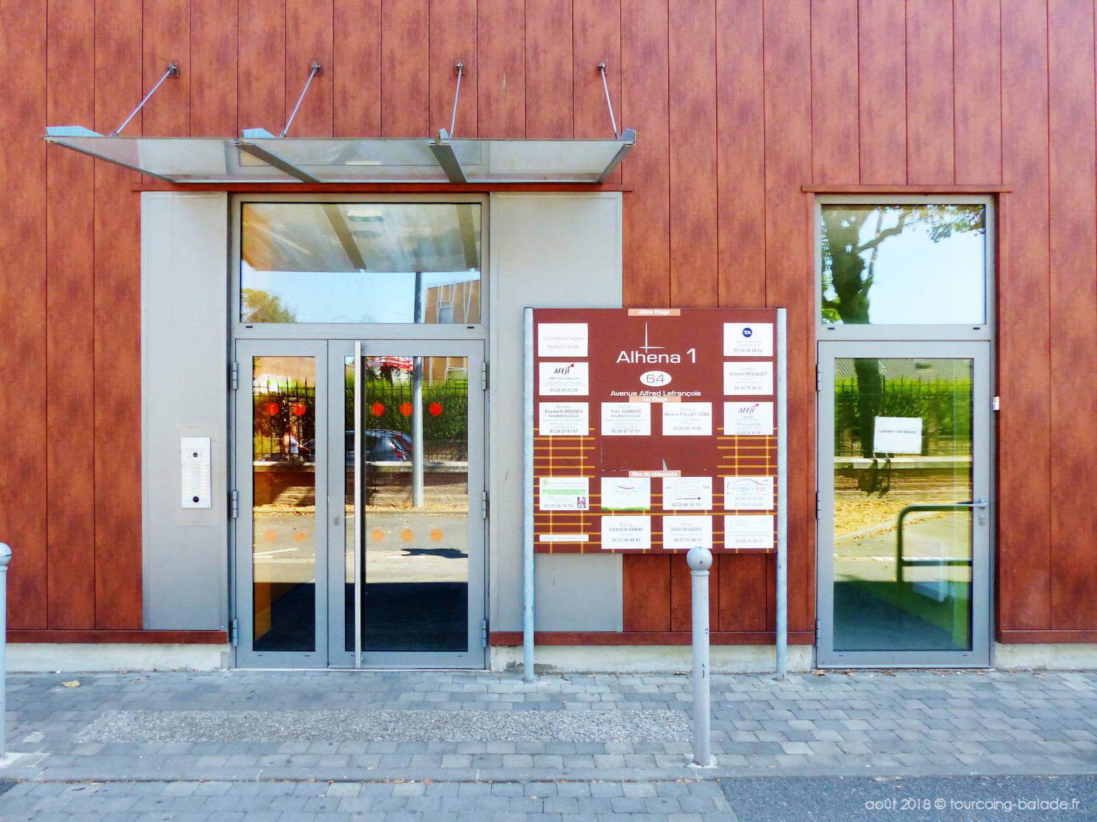 Alhena entrée 1 - Avenue Lefrançois, Tourcoing