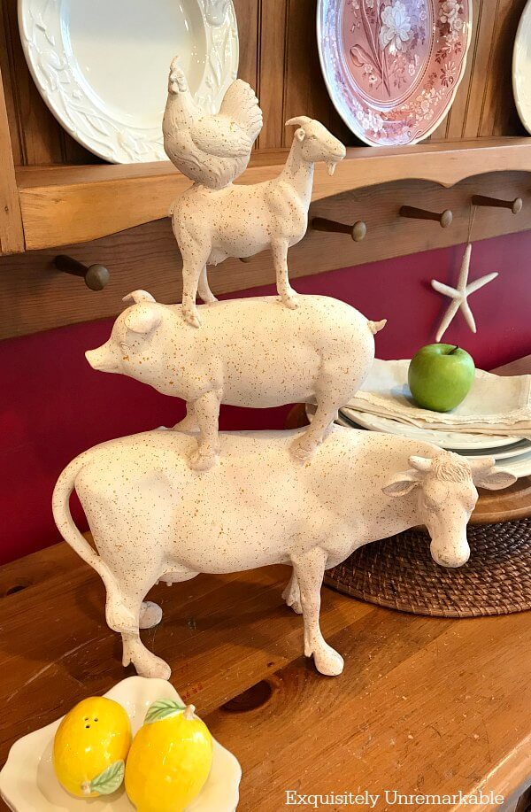 Farmhouse Animal Statue