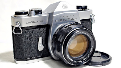 Asahi Pentax Spotmatic SP (Chrome) Body #590, Super-Takumar 50mm 1:1:4 #500
