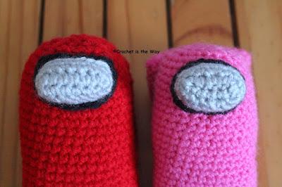 Among Us, crochet pattern, Mainstays acrylic yarn, Red Heart Super Saver