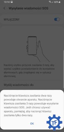 Informacja o użyciu przycisku wysyłania