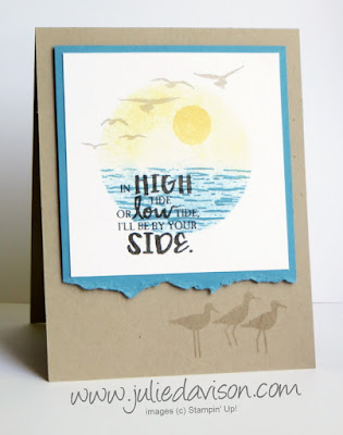 VIDEO: Reverse Masking Tutorial: Sponging with Stampin' Up! High Tide ~ www.juliedavison.com