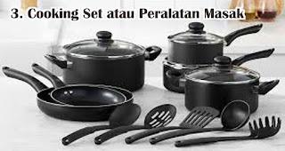 Cooking Set atau Peralatan Masak untuk Hadiah Ulang Tahun mama