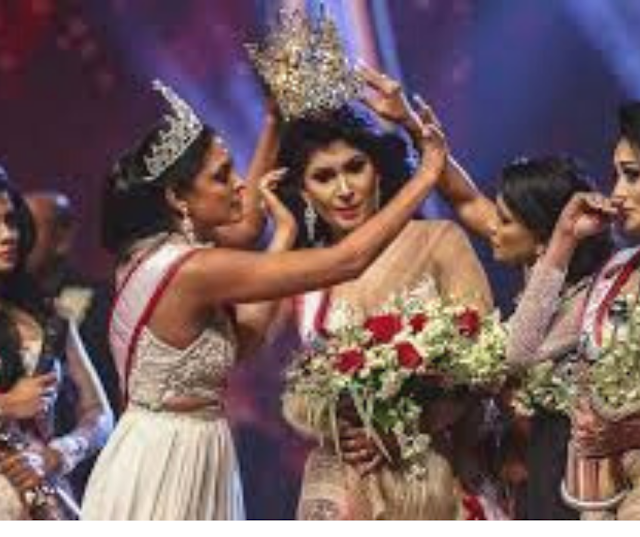 Miss  Sri Lanka' beauty queen injured in on-stage