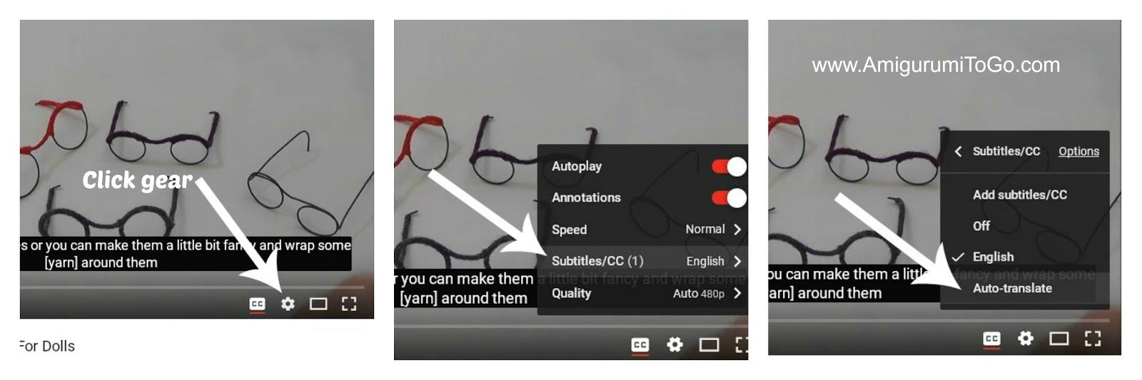 Glasses For Amigurumi : How To Make Glasses For Amigurumi ~ Amigurumi To Go