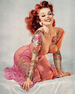 Pin-ups with tattoos