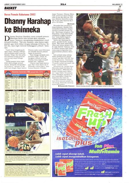 BURSA PEMAIN KOBATAMA 2002 DHANNY HARAHAP KE BHINNEKA