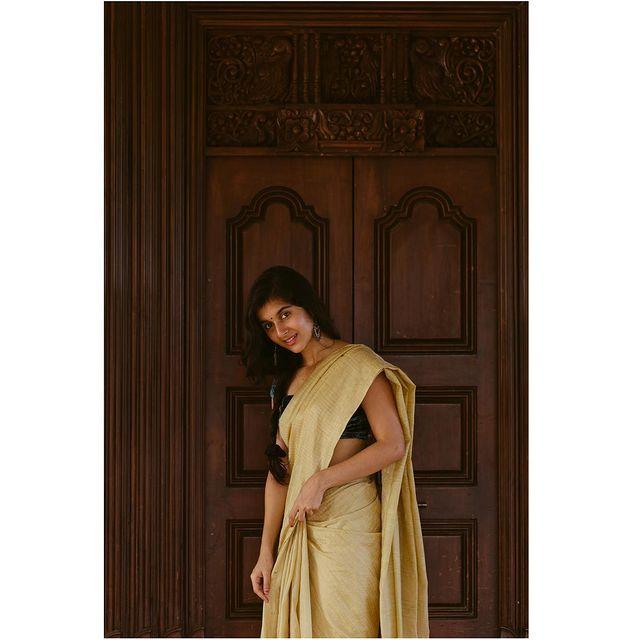 Sanjana Sarathy Saree Photos