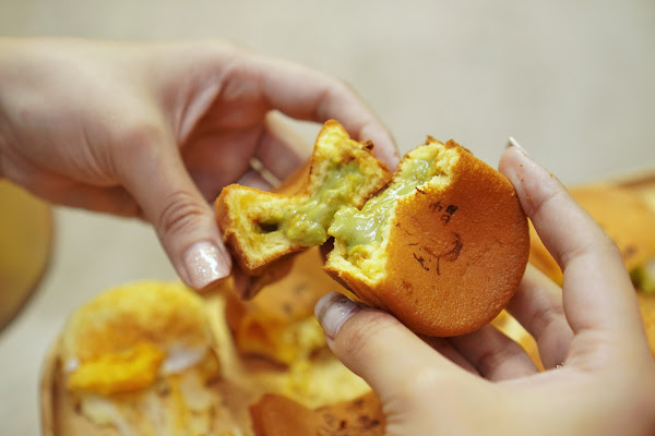 台南永康區區美食【兔子高帽雞蛋燒】餐點介紹-限定口味 抹茶雞蛋糕