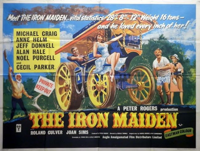 Original poster for The Iron Maiden (1962)