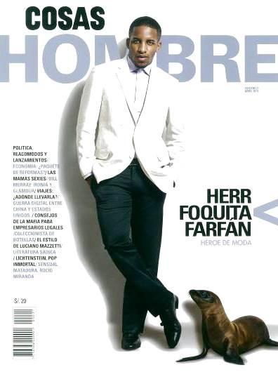 """Jefferson """"Foquita"""" Farfán posando para la revista Cosas"""