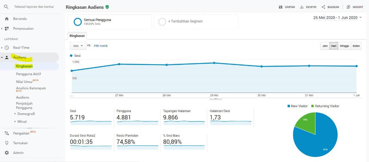 cara menggunakan google analytics data audience