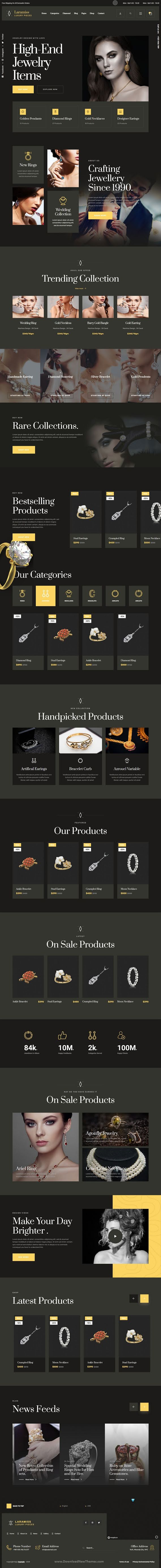 Jewelry Store React Template