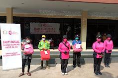 Bhayangkari Daerah Metro Jaya Gelar Bakti Sosial Bagikan Sembako  dan APD di Hari Kesatuan Gerak Bhayangkari ke- 69