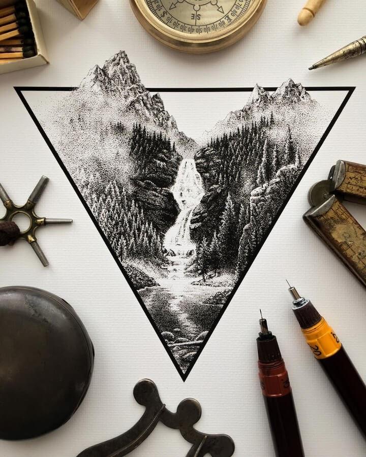 02-Waterfall-in-the-wilderness-Nicholas-Baker-www-designstack-co