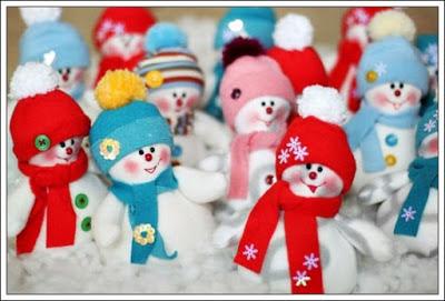 muñecos de nieve-para-colgar